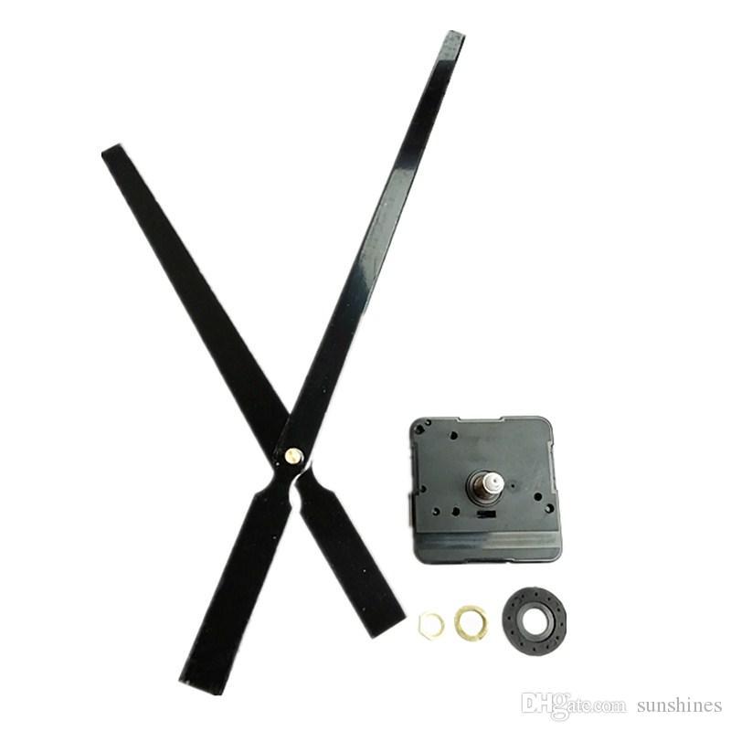 Wholesale10 PCS 22 MM Eixo Alto Torque Preto Metal Grande Mecânico Relógio Repair Kit para DIY Relógio de Parede