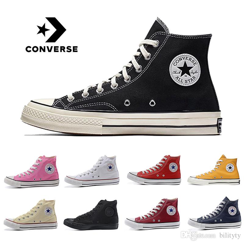 2020 ConverseShoes ConverseChuckTaylor Original Brand High Low Cut Canvas Casual Shoes Black White Red Mens Women 1970S Sneakers From Bilityty,