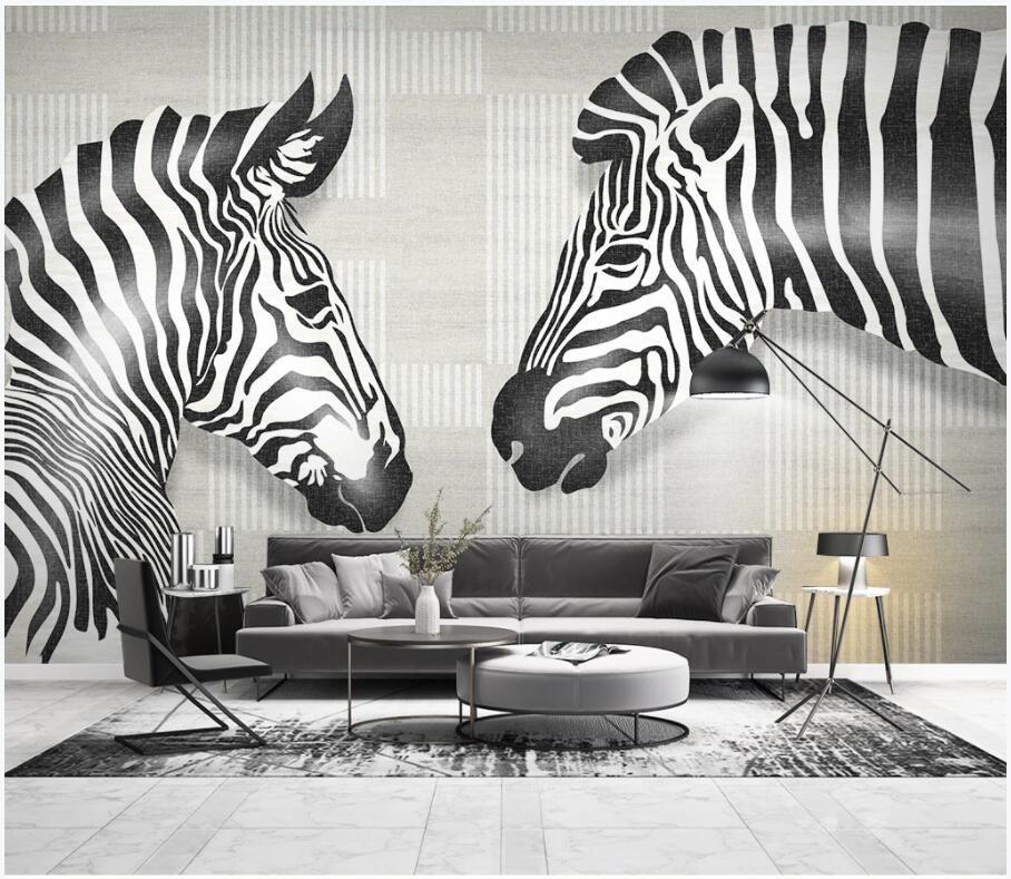 3d обои на стену пользовательские фото современные минималистичные животные зебра геометрические линии домашний декор гостиная обои для стен 3 d