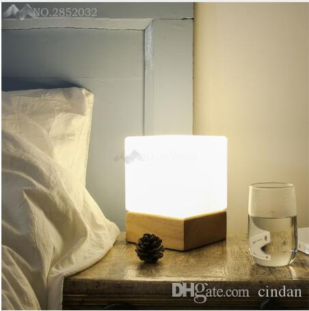 Wooden Modern Led Table Lamps for Living Room Bedroom Bedsides Cafe De Home Decoration Lights Fixtures Luminaire Sala Plafon