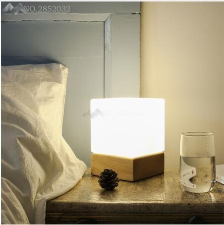 Wooden Modern Led Table Lamps for Living Room Bedroom Bedsides Cafe De Home Decoration Lights Fixtures Luminaire Sala Plafon