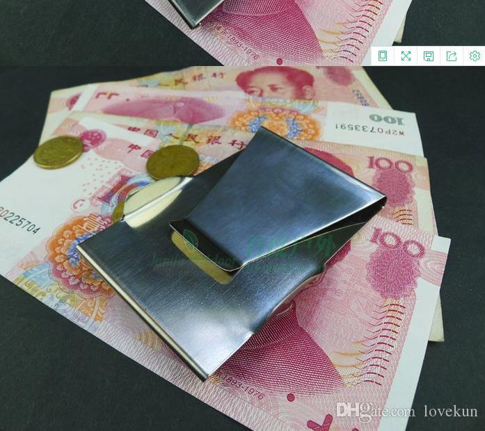 새로운 Unisex 슬림 머니 클립 신용 카드 클립 지갑 스테인레스 스틸 남성 여성 솔리드 패션 머니 클립