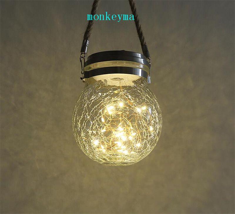 Fashion Solar Balcony Lamp Fashion Energy Saving Solar Lamps Crystal Glass Portable Small Lights Outdoor Indoor Mini Lamp