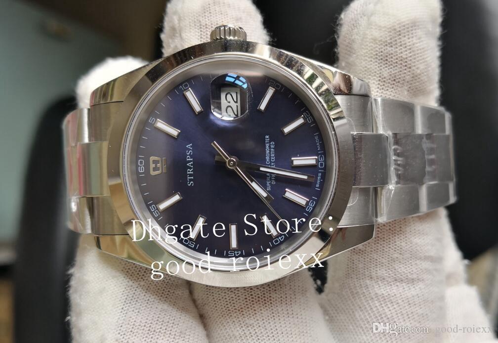 41mm Blue Mens BP Fábrica Mecânica Ásia 2813 Assista Homens Data de Execução 126334 Relógios Sapphire Vidro 126300 Perpétuos Relógios de Pulso