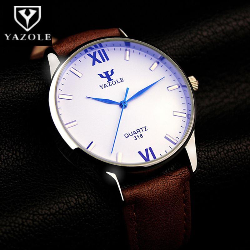 YAZOLE Blue Glass Wrist Watch Men Watch Fashion Men's Watch Waterproof Mens Watches Clock reloj hombre 2018 erkek kol saati