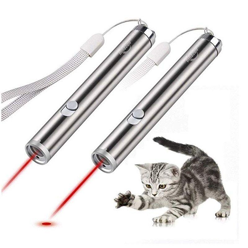 Кошка игрушки светодиодные лазерная указка свет ручка с яркой анимации мышь лазерная указка ручка кошки аксессуары
