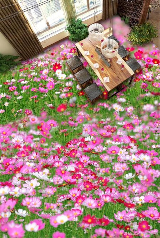 Sur mesure toute taille 3d Fond d'écran fleur planter des fleurs et plantes 3D Salon 3D cratique étage Intérieur mural Fond d'écran