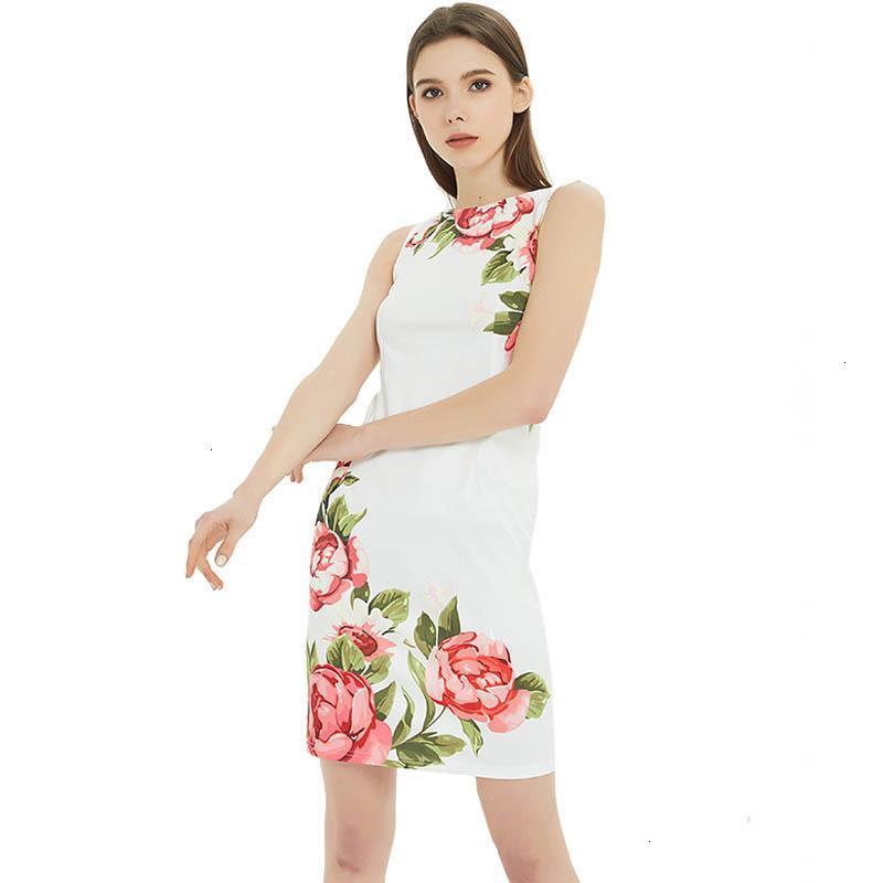 Plus Size Mulheres Roupa Mulheres vestido sem mangas vestido de verão 2019 Casual impressão vestido de festa Vestidos Casual Feminino elegante Sexy Magro 3XL