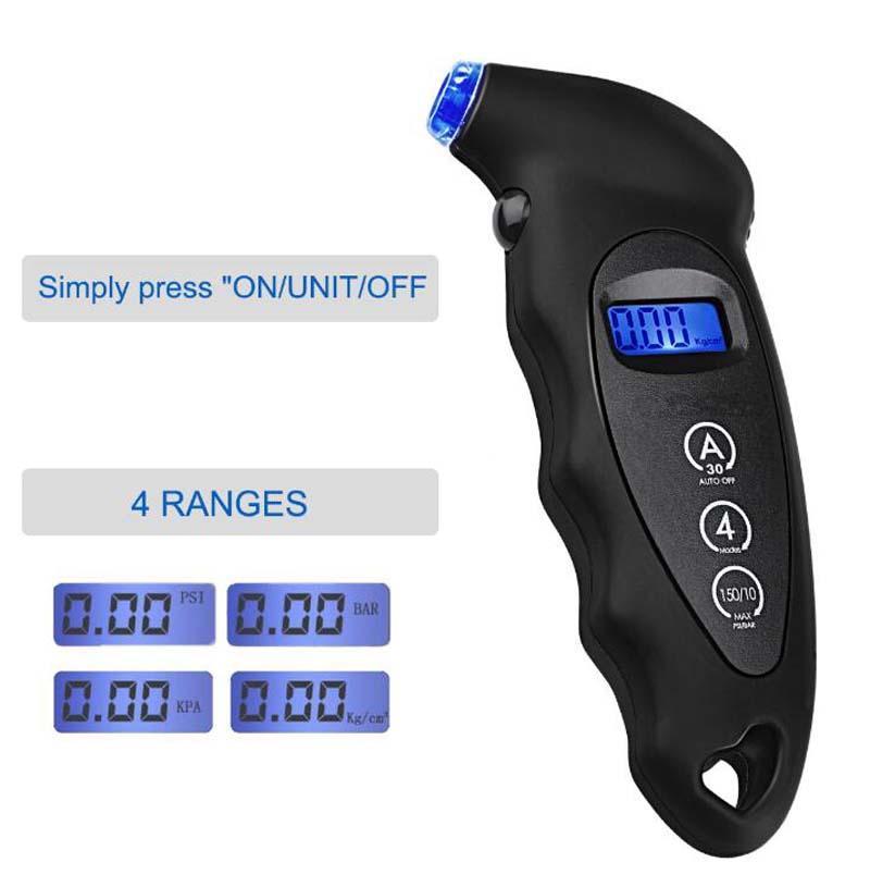 Herramientas de Neumáticos Manómetro digital de presión de diagnóstico Tester LCD de aire del neumático de seguridad del sensor TPMS neumáticas para la bici del coche de la motocicleta