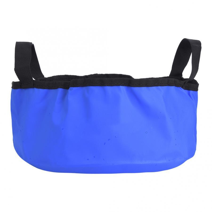 PVC 7.5L Açık Havza Mavi Katlanabilir Su Havzası 28.5x28.5x12cm Kamp İçin Su Çanta Camp Pişirme