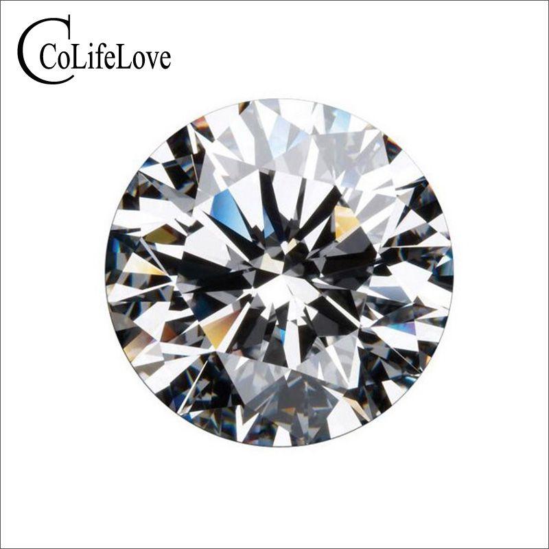 Piedra suelta de Moissanite 100% real para joyería Shop 0.3ct A 3ct F Color VVS1 Moissanite de alta calidad con certificado