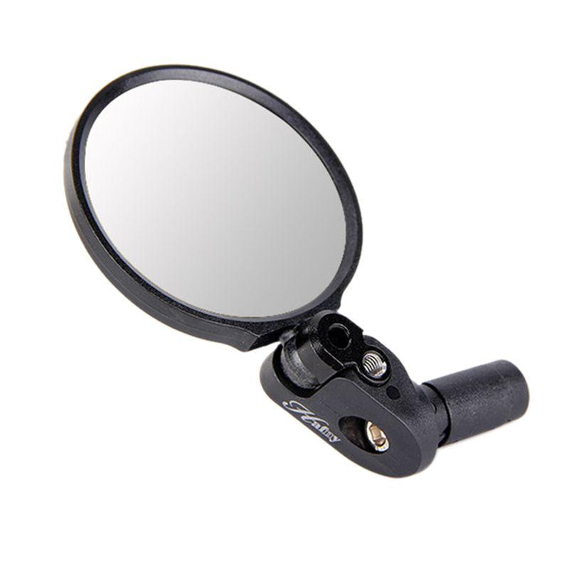 Fin del manillar de la bici de la lente de espejo de acero Ciclismo parte posterior del espejo del espejo retrovisor de accesorios de la bicicleta de montaña bicicleta de carretera