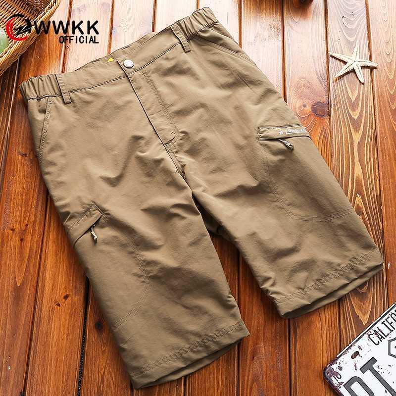 WWKK Cargo Shorts Men 2020 Новые мужские Быстросохнущий Повседневный шорты Мужской Сыпучие работы Man Короткие штаны плюс размер M-4XL