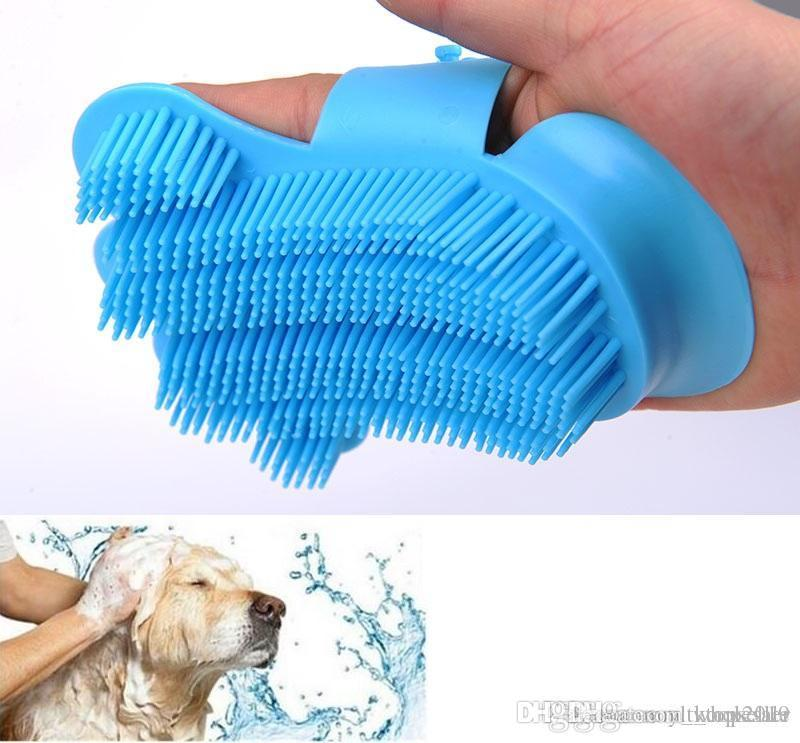 Temizleme fırçalar Bakım Köpek Eldiven Hayvan Parmak Saçlar İçin 10 Ad Yeni Silikon yumuşak Pet Saç Eldiven Masaj aletleri Köpek Fırça Tarak