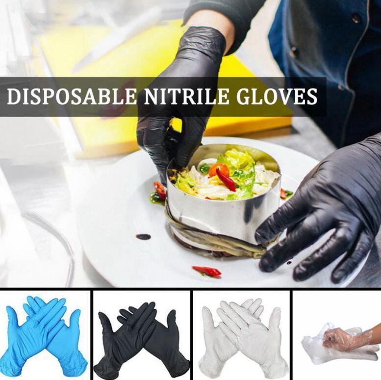 Monouso Guanti in nitrile S-L da cucina lavastoviglie giardino lavoro guanti protettivi Frutta Verdure guanti di plastica OOA8072