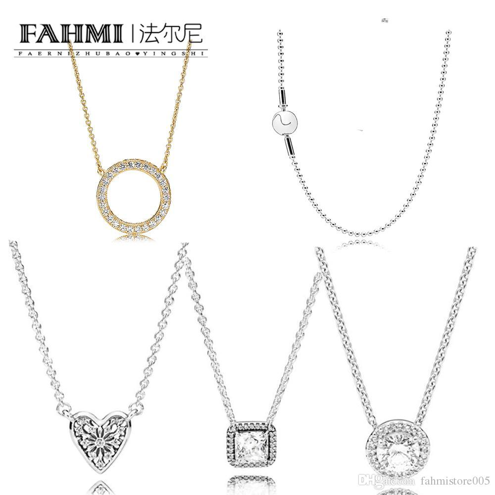ORSA 100% 925 Sterling Silver 590742HG MOMENTS SILVER NECKLACE WITH 14CT GOLD ROUND CLASP 590742HV Glamour Women Original