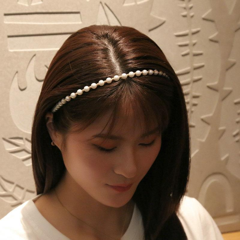 Symphony Pearl Hairband sottile bordo Fascetta Cerchietto aliceband nero Fascia Hair Style New Hair 2019 Headwears pYlLL