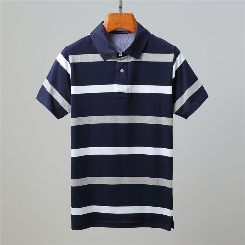 Высокое качество Stripe Men Новые Tommi Лето короткий рукав рубашки хлопка случайные сплошной цвет рубашки моды для мужчин Homme