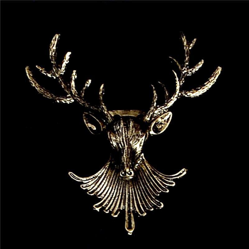 Styling Jóias Moda Popular Natal Unisex animal Cabeça de Veado bonito Antlers Broches Pin de broche vestido jewely 12pcs / lot formais