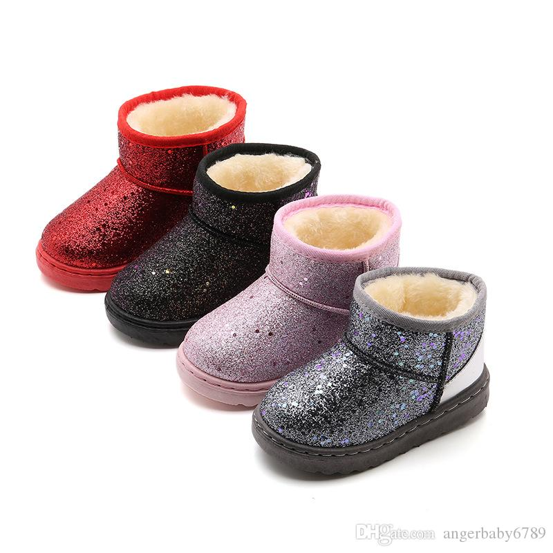 New Baby//Kids Winter Shoes Snow Boots Comfortable Warm Fur Fast Shipping