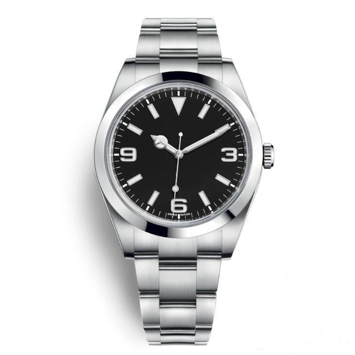 높은 품질의 고급 남성 시계 탐색기 블랙 스테인레스 스틸 자동 시계 캐주얼 날짜 Reloj 드 Lujo MONTRE Relojes 드 마르카 시계 다이얼