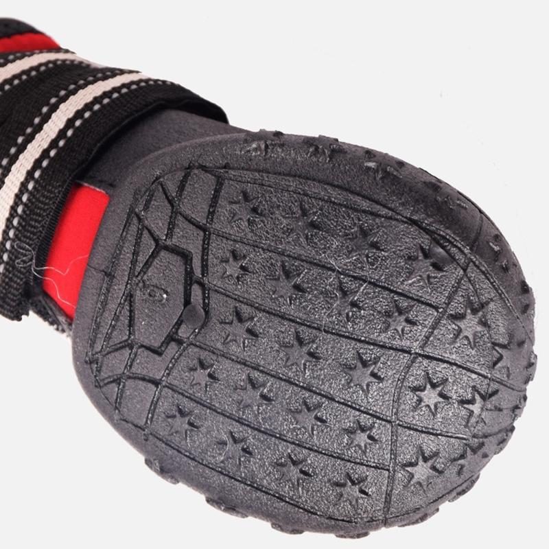개 모든 날씨 개 신발에 대한 개 큰 작은 개 강아지 부츠 애완 동물 개 신발 방수 야외 레인 슈즈를