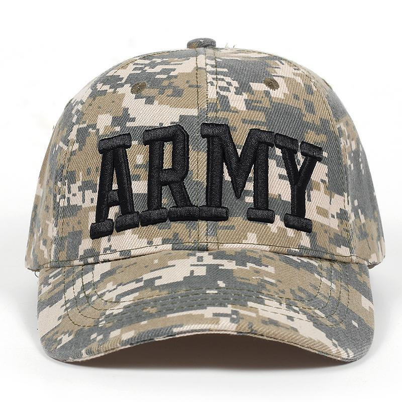 2018 tactique Cap Mens camouflage Casquette Armée Snapback Caps Casquette ARMY Motif Trucker os Garros