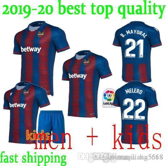 kids Levante UD soccer jerseys home away 2019 2020 CAMISETAS Levante #11 A.J.Morales #9 Roger MS. #10 Bardhi #24 J Campaña FOOTBALL SHIRTS