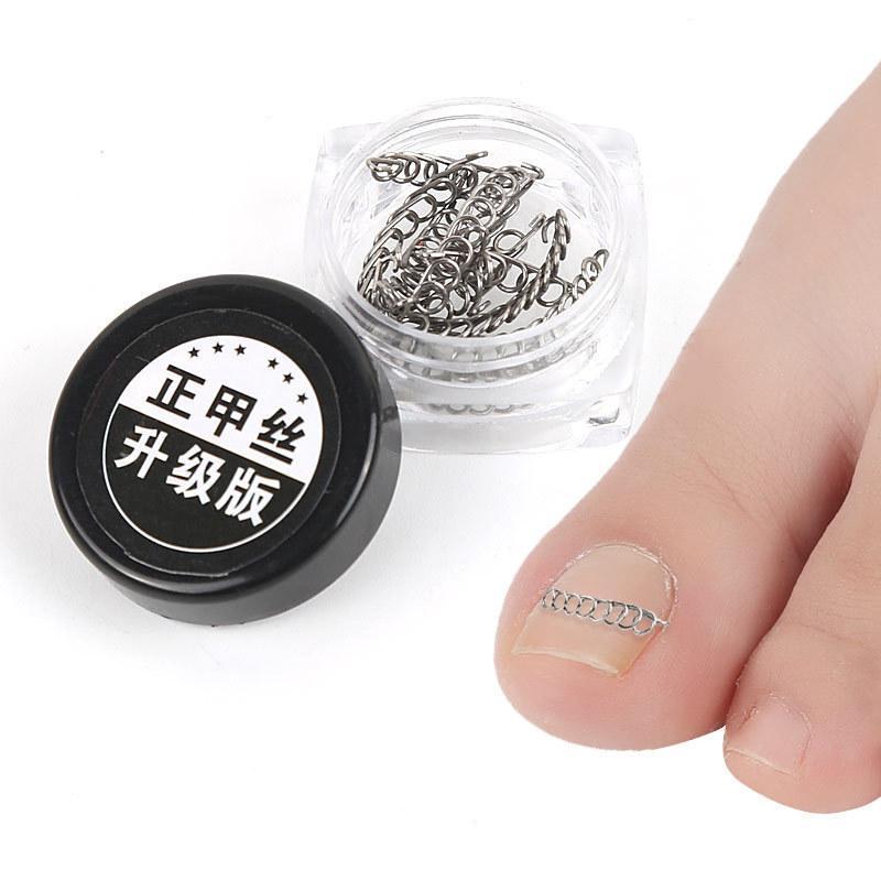 12pcs / box in acciaio inox filo Paronichia le dita dei piedi incarnite correzione ortodontica dell'unghia del piede Pedicure Onychocryptosis La cura di Nail