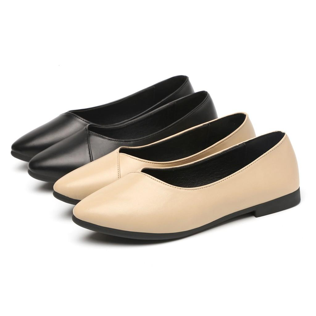 YOUYEDIAN New Women Pumps Fashion Low Heels Single Shoes Woman Pointed Toe Pumps Zapato Mujer Ballerina Slip On Shoes#911g35