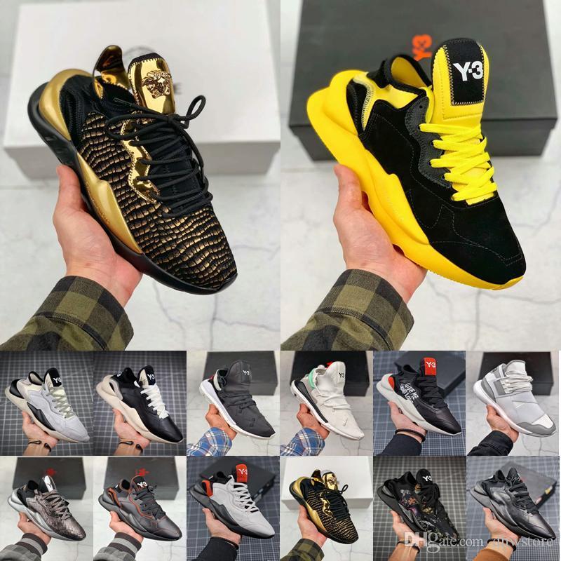 Tasarımcı Y3 Erkekler Ayakkabı Kaiwa Chunky Sneakers Kanye Erkek Kadın Günlük Spor Açık lüks Y3 Kusari II Leathe Çizme Sneakers