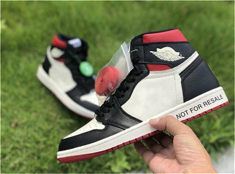 2019 nuevos zapatos de auténtica alta OG 1 NRG no para la reventa de Vela Negro Varsity Red maíz amarillo de baloncesto de los hombres 861428-106 las zapatillas de deporte 40-47
