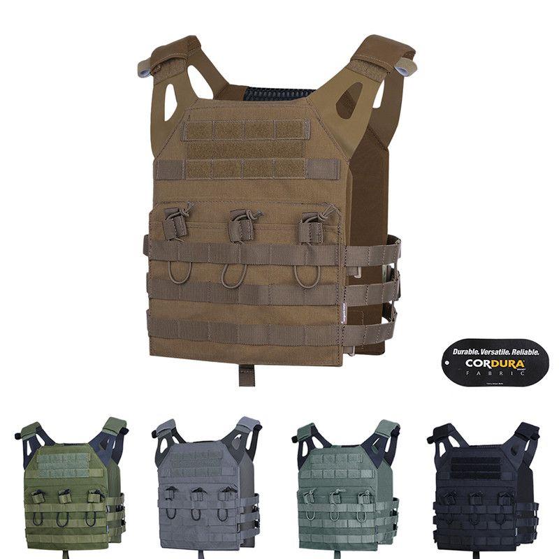 Tactical JPC Нападение Легкого Combat Vest EmersonGear бронежилет Регулируемый MOLLE + Планшеты Jumpable Plate Carrier