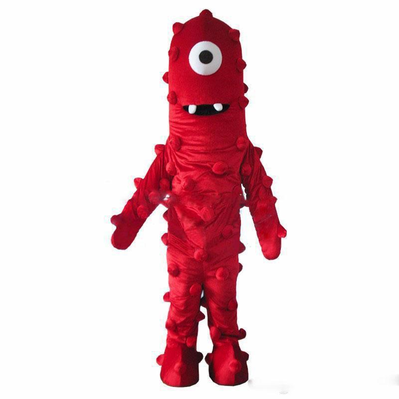 2020 nueva venta de la fábrica Mejor Muno traje de la mascota de Yo Gabba Gabba Tamaño vestido de envío libre adulto