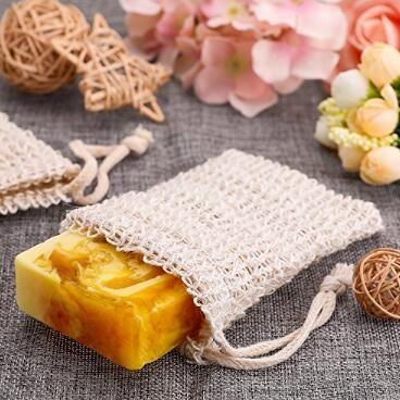 9 * 14cm haciendo pompas de jabón Ahorro Saco Jabón Jabón bolsa de almacenamiento de bolsa con cordón titular de baño Fuentes del baño Artículos de higiene sanitaria CCA11208-2 50pcs