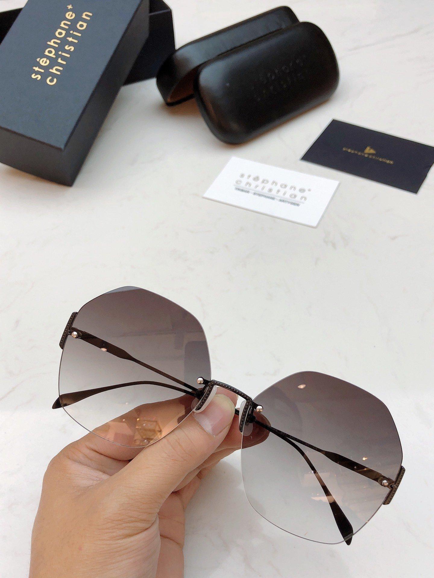 la manera del verano de las mujeres gafas de sol de marco redondo grande marco es un estilo muy de moda gafas de sol, casual y la moda sin marco