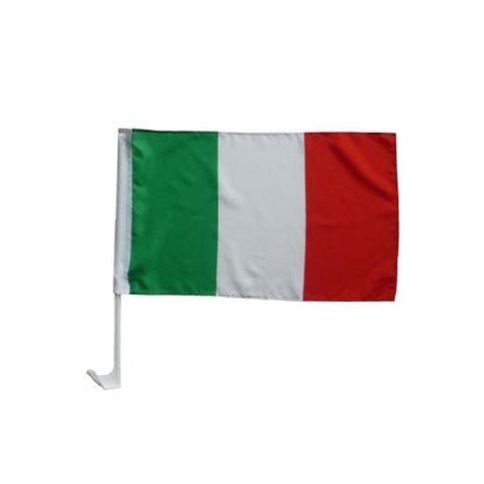Bandeiras Itália de carro, 30x45cm Custome com 43 centímetros suporte de plástico, tecido de poliéster única Impressão do lado, frete grátis