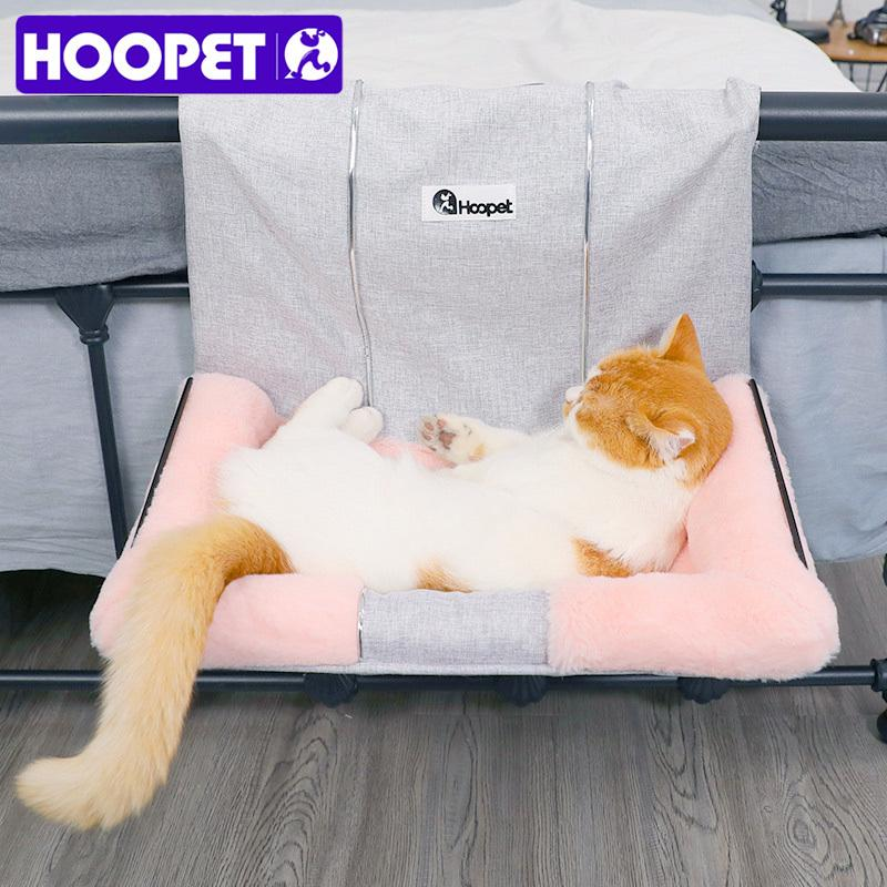 HOOPET Cat Hammock Bed Warm Hanging Bed For Pet Cat House Soft And Comfortable Shelf Seat Beds T200618