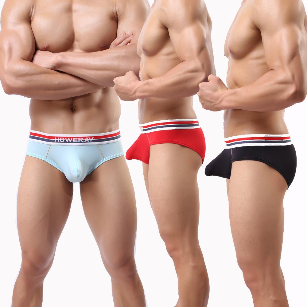 مثير الرجال الملابس الداخلية ذكر الحرير الجليد ملخصات للرجال منخفضة الخصر النايلون أوم underpant ماركة الرجال السراويل مزيج اللون J190109
