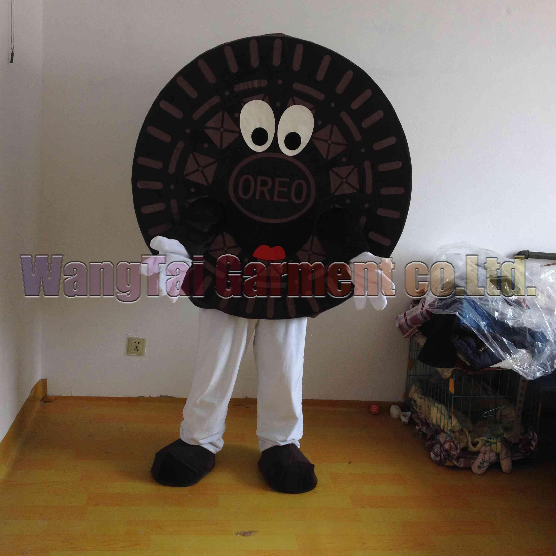 Oreo-Maskottchen-Kostüm-freies Verschiffen Erwachsene Größe, Oreo Plätzchen-Maskottchen Anzug klassischen Cartoon-Maskottchen Plüsch Karneval Anime-Film Werksverkauf