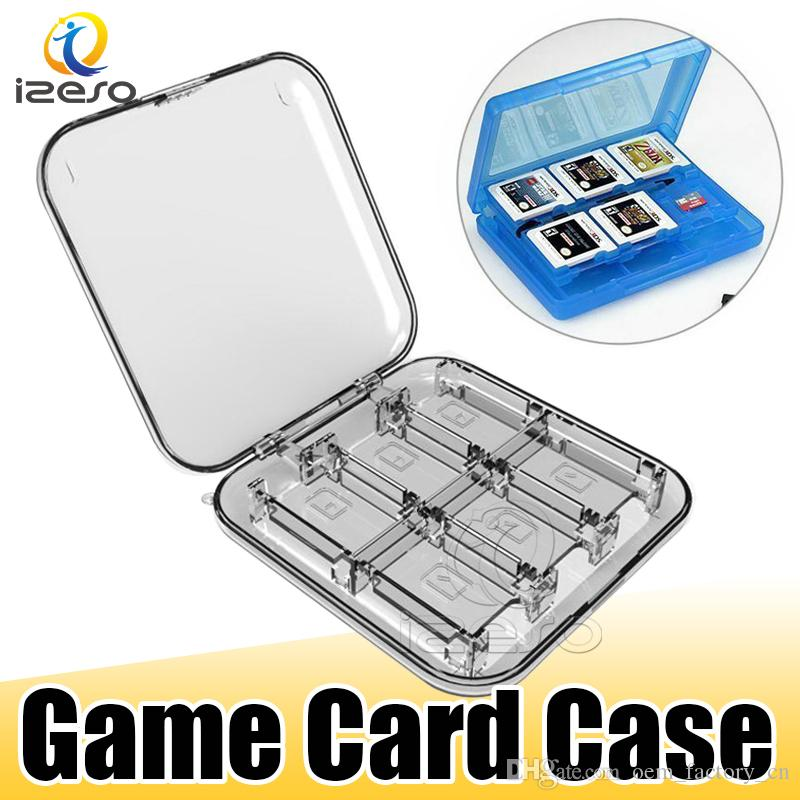 12 in 1 Game Memory Card Micro SD Case Holder Portable Shockproof Hard Shell Case Protective Storage Box for Nintendo Switch Console izeso