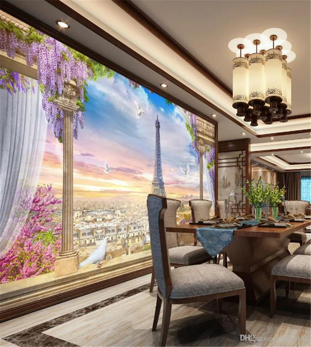 3d Wallpaper Murals 3d European Style Paris Wall Background Living Room Bedroom Background Wall Decoration Mural Wallpaper From Yunlin188 28 15 Dhgate Com