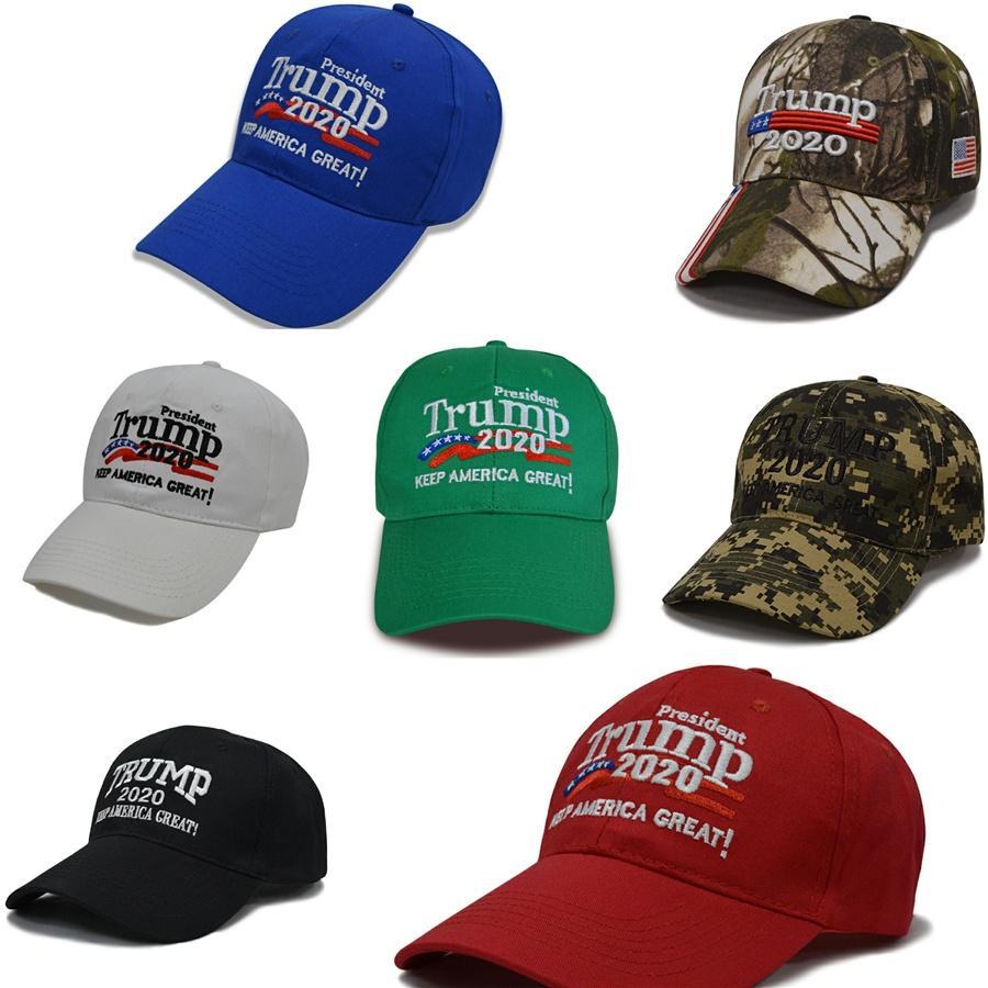 Smolder2020 Hot vente Chapeaux Casquettes Chapeaux, Écharpes Gants Trump Chapeau brodé Amérique Drapeau pour les femmes Hommes Baseball Caps # 531