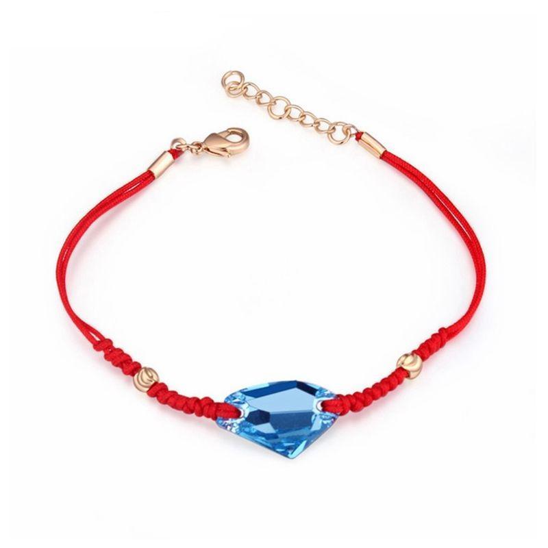cristal bracelet rouge corde cristal de Swarovski Classic simples bijoux hommes femmes accessoires Lucky Jewelry
