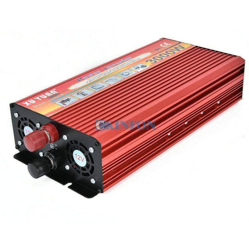 DHL 5PCS 3000W العاكس 12V / 24V إلى 220V AC 50HZ 3000W الجهد محول تحويل الطاقة الشمسية للحصول على سيارة العاكس المنز DTY