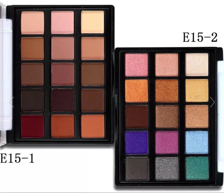 PopFeel Mini 15 Color Eyeshadow Профессия Макияж глаз тени палитры Shimmer Матовый Косметика