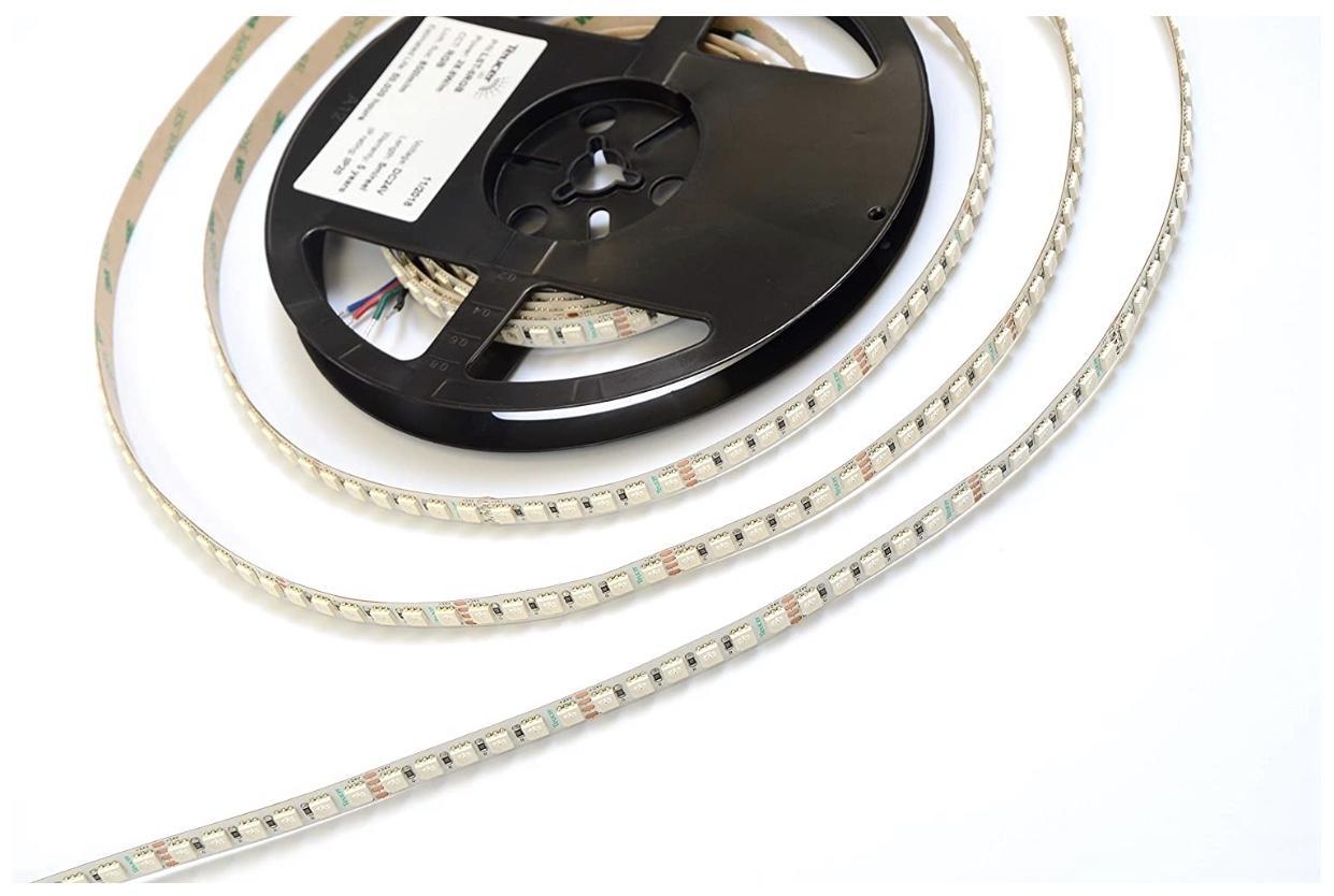 Renkli Işık LED Şerit Işıkları RGB 16.4FT / 5 M SMD 5050 DC12V Esnek Les Şeritler Işıkları 50LED / Metre 16 Sonfferent Statik Renkler