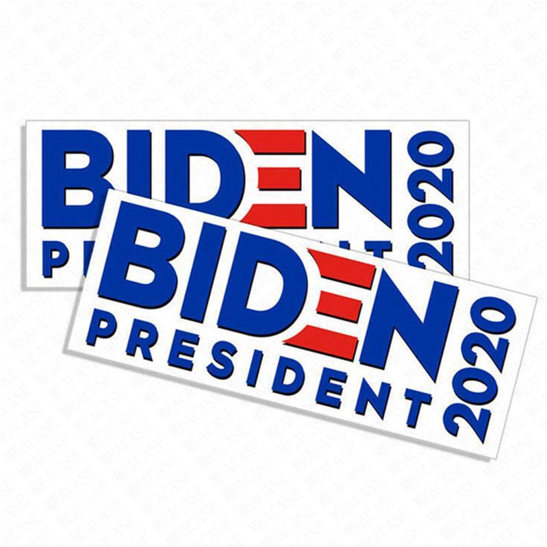 조 바이든 편지 스티커 대통령은 2020 범퍼 스티커 도널드 트럼프 차 스티커 PVC 데칼 미국 캠페인 Paster 기념품 D62903