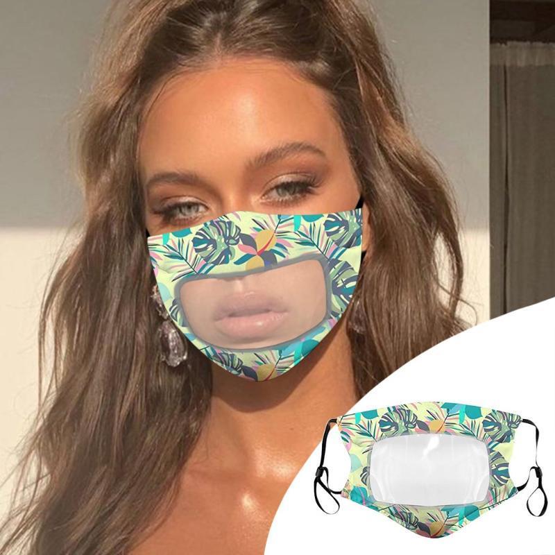 Moda Cara-máscara para la protección de germen para adultos con la ventana clara visible la boca de algodón cara Maskswashable y reutilizable Maskking