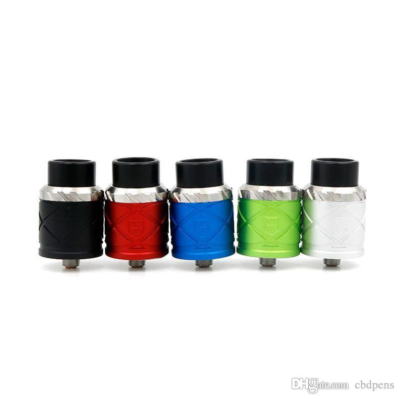 Newest Vaporizer Royal Hunter X RDA Rebuildable Dripping Atomizers 24MM PEEK Insulators 5 Colors Fit 510 E Cig Mod High quality DHL free
